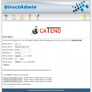 CtBackup Directadmin Plugin instellingen